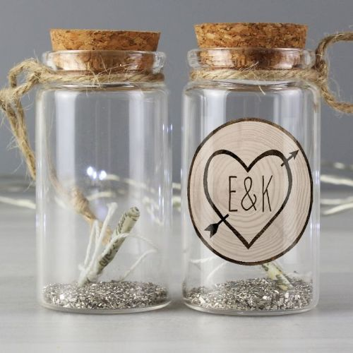 Carved Heart Message in a Bottle